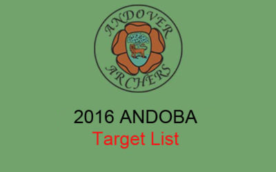 ANDOBA 2016 Entry Form