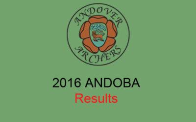 2016 ANDOBA Results