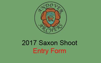 2017 Saxon Shoot Prospectus & Entry Form